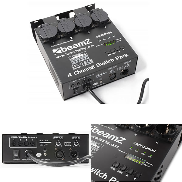 4-channel DMX512 Switchpack