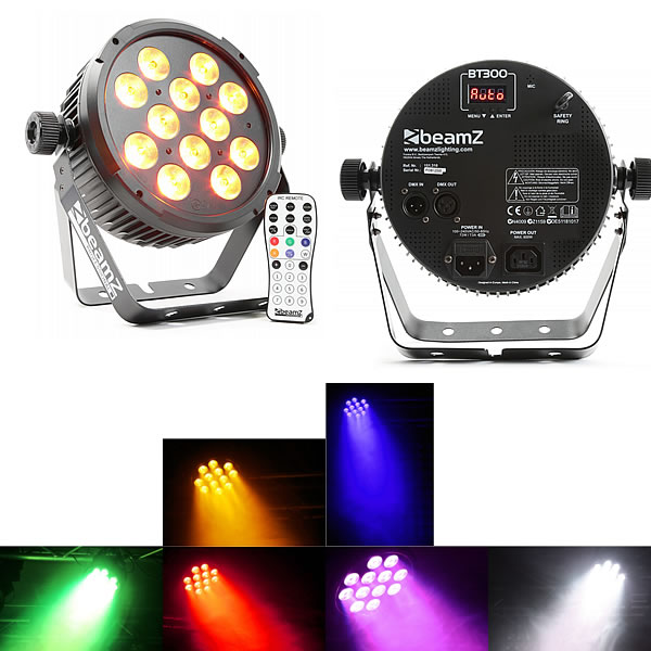 BT300 FlatPAR 12x 12W 6-in-1 LEDs