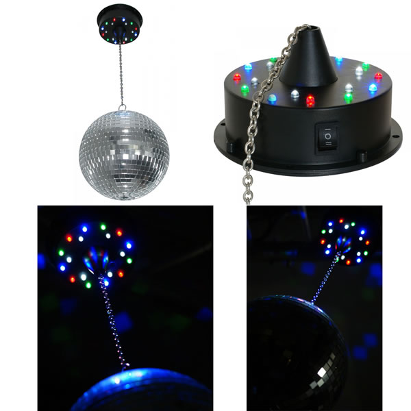 Battery Mirror Ball Motor with 18 LEDs