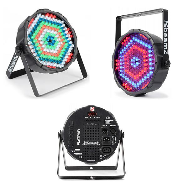 FlatPAR 186x 10mm RGBW LEDs