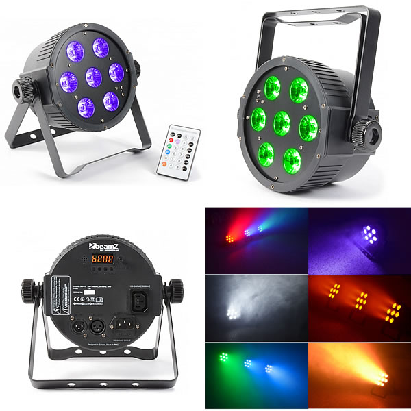FlatPAR 7x 18W 6-in-1 LEDs