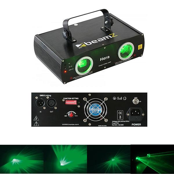 Hera 2-Way Laser Green 80mW DMX