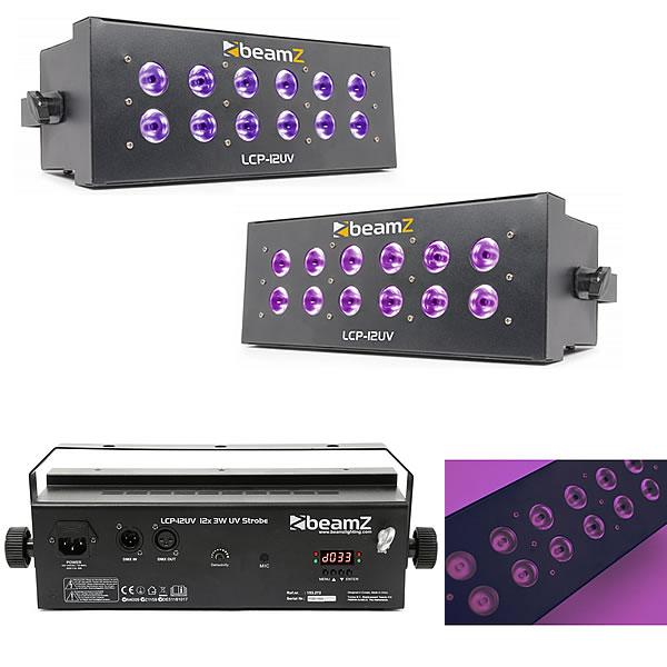 LCP-12UV UV Strobe 12x 3W LEDs