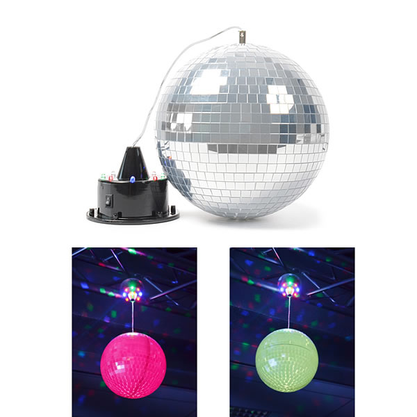 Mirror Ball with LED + Motor with LEDs