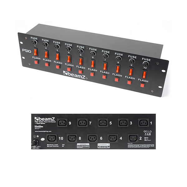 PS10 Switch Panel 10-Channel + Flash Button