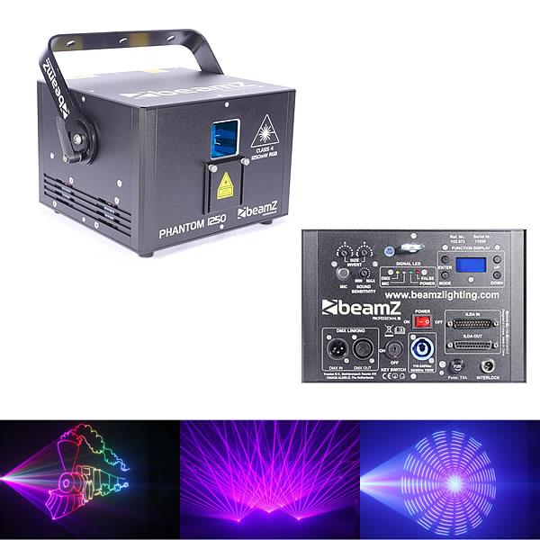 Phantom 1250 Pure Diode Laser RGB Analog 30kpps