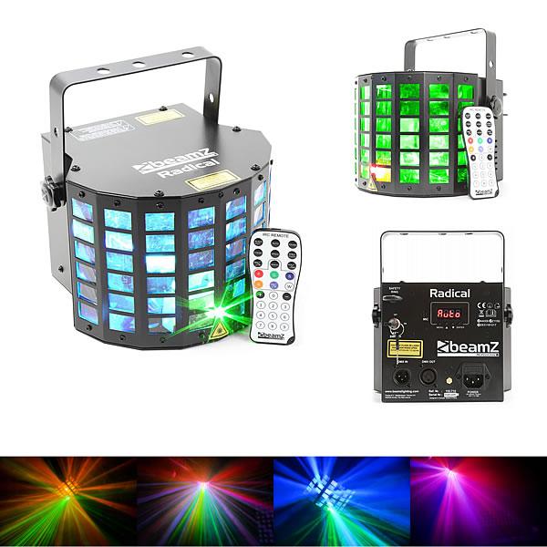 Radical LED derby with laser