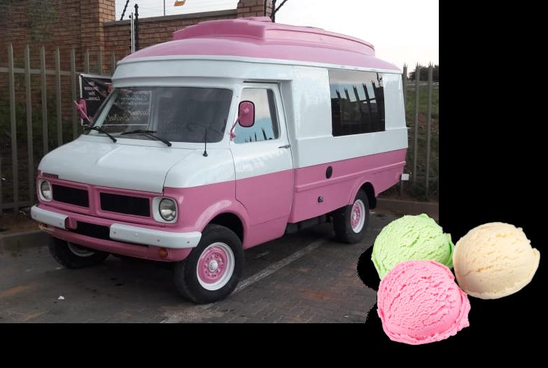 Ice cream van - with ice cream